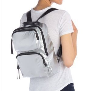 Urban expression high shine backpack/silver/gifts